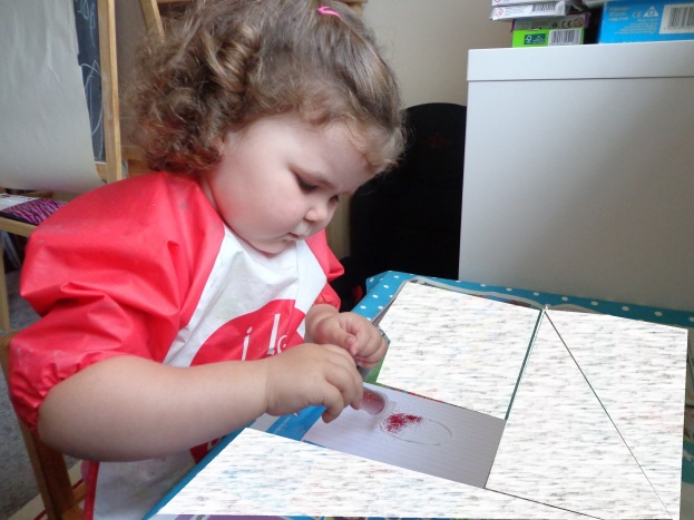 Making Glitter Cards